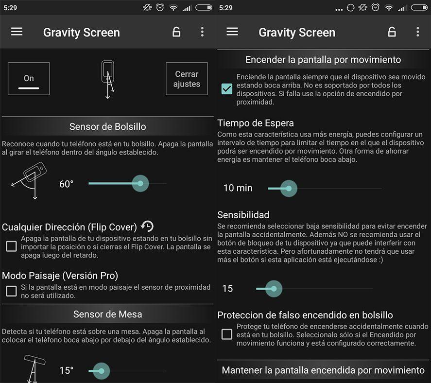 Gravity Screen