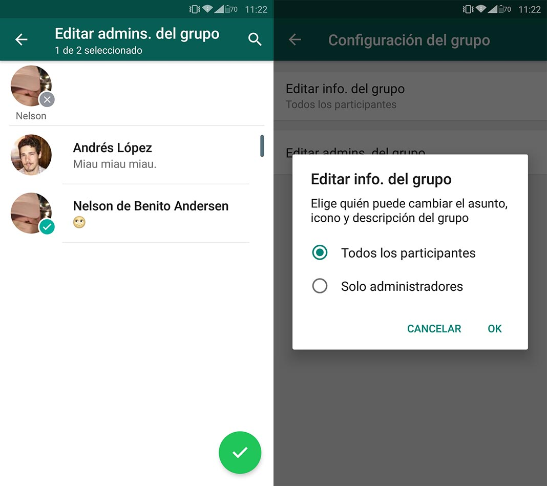 grupo configuracion featured 2 WhatsApp ahora permite elegir a varios administradores en los grupos
