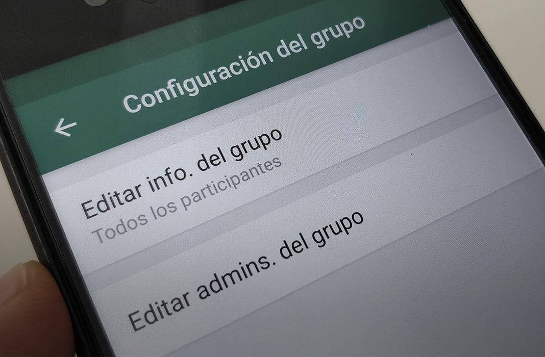 grupo configuracion featured WhatsApp ahora permite elegir a varios administradores en los grupos