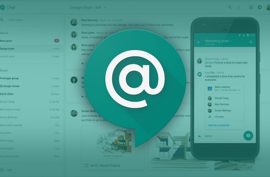 hangouts chat feat Hangouts Chat is the new professional communication service from Google