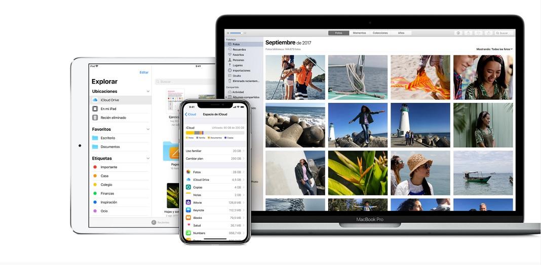 servicios de almacenamiento en la nube - iCloud