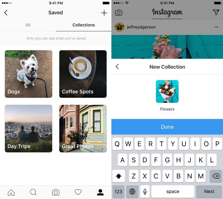 instagram collections Instagram adds an offline mode and a new collections feature