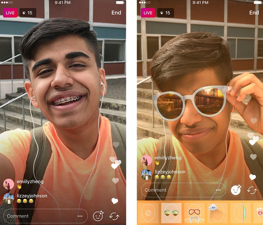 Instagram Live Mascaras
