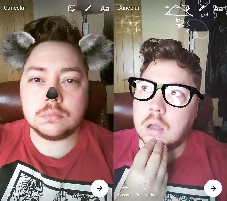 Instagram mascaras