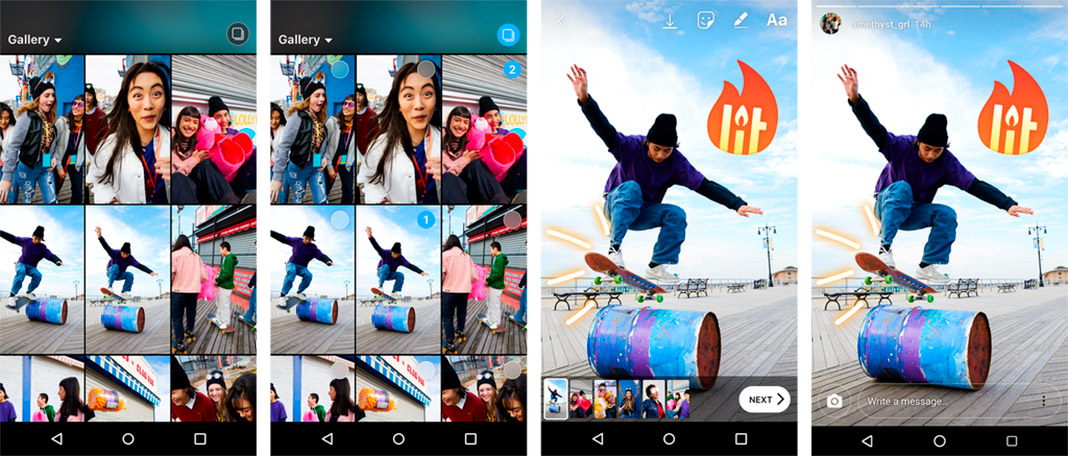 instagram stores multiple You can now upload multiple photos and videos simultaneously to Instagram Stories