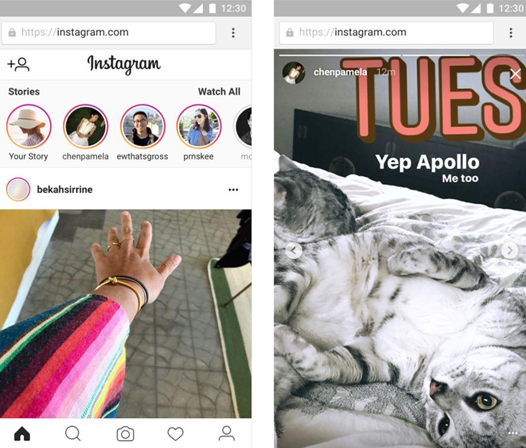instagram stories web screenshot Instagram Stories llega a la versión web de la aplicación