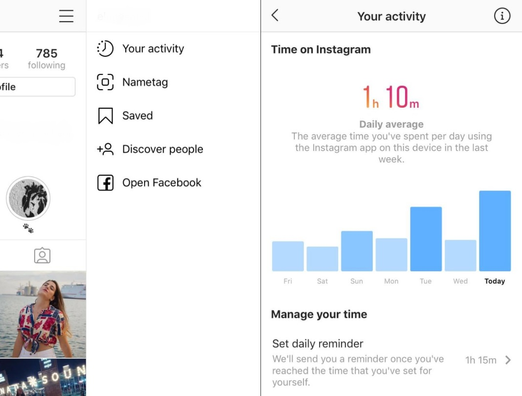 instagram tiempo 4 [Updated] Instagram and Facebook let you know how much time you spend using each app