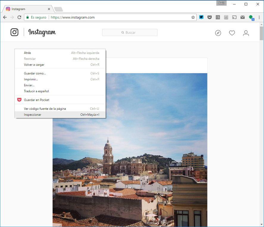 instagram web 2 Cómo publicar fotos en Instagram desde cualquier PC