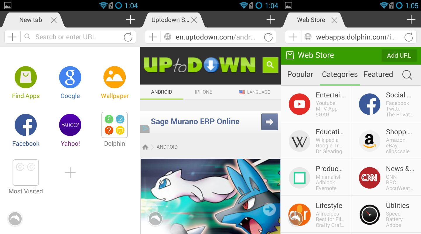 Dolphin, a comprehensive alternative browser for Android