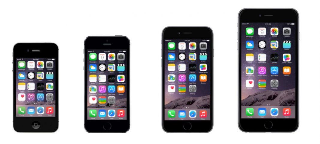 Evolución de la pantalla del iPhone