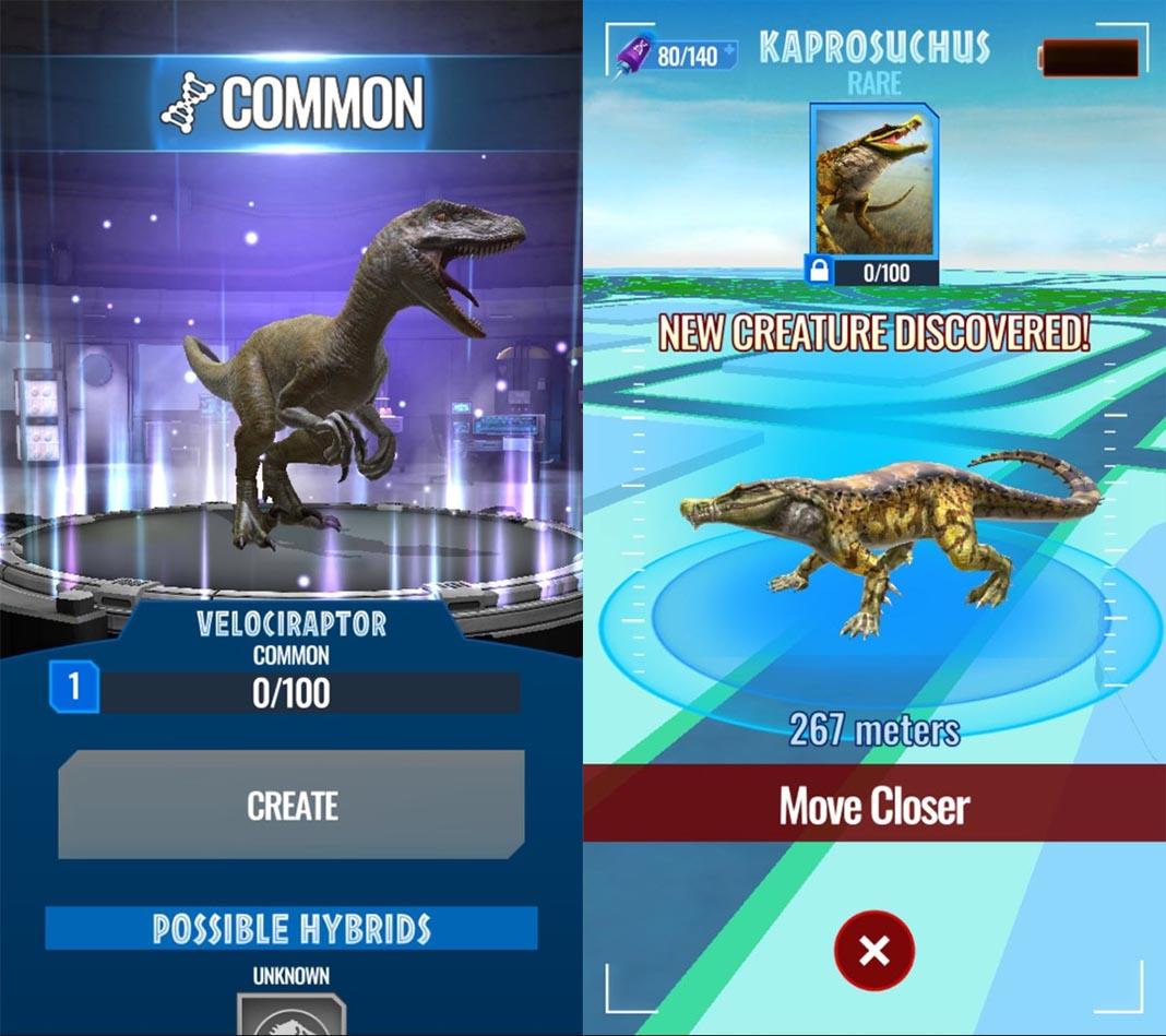 jurassic world alive screenshot 1 Llega una nueva oleada de juegos de geolocalización y realidad aumentada