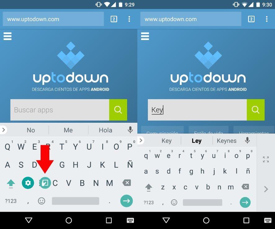 keyboard android una mano Cómo utilizar nuestro smartphone con una sola mano