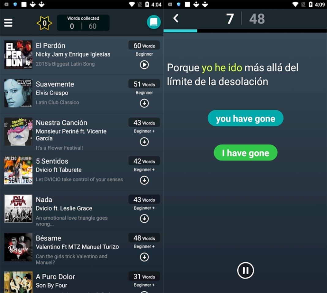 lirica app screenshot Las diez mejores apps para Android del mes [marzo 2019]