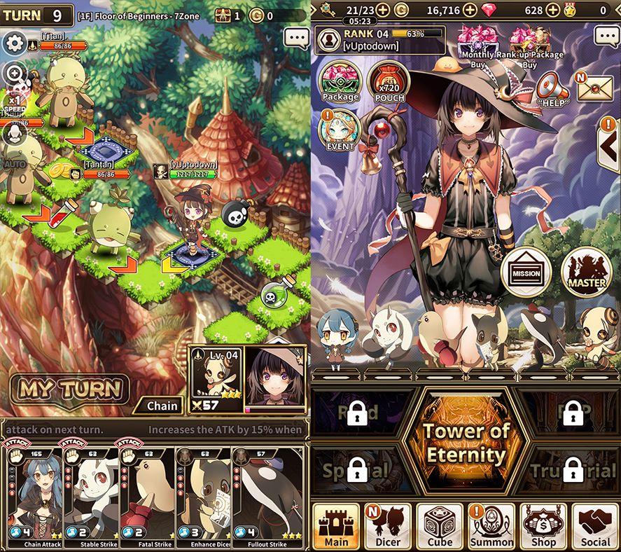 lord of dice screenshot 1 Lord of Dice es un RPG muy original que mezcla cartas y dados