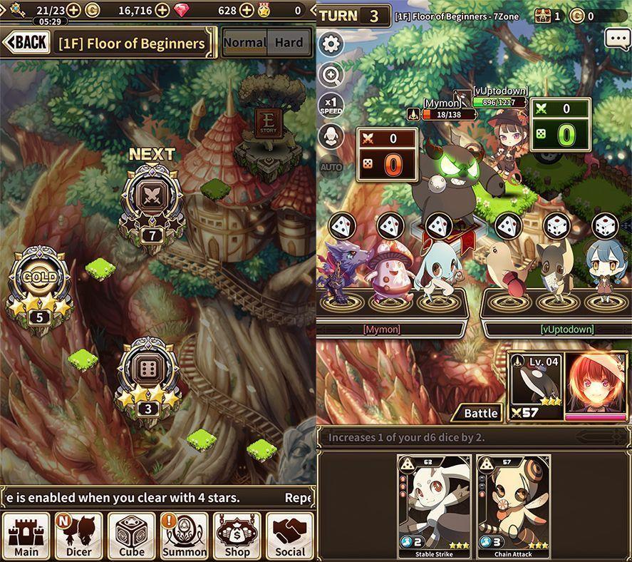 lord of dice screenshot 2 Lord of Dice es un RPG muy original que mezcla cartas y dados
