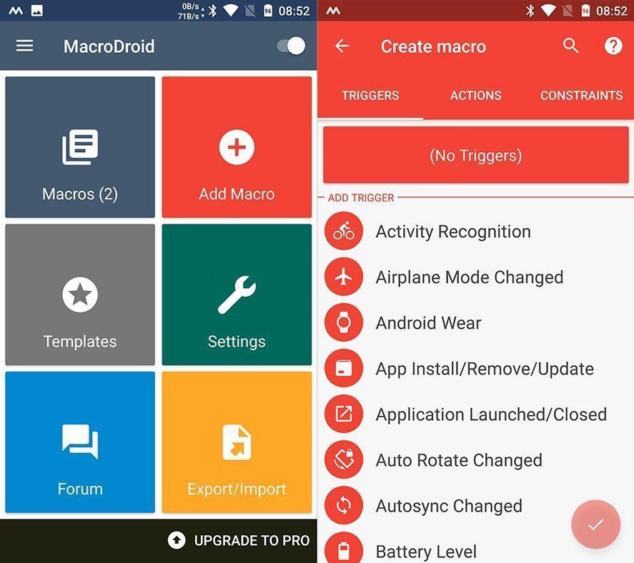 macrodroid screenshot 1 MacroDroid, una impresionante herramienta para automatizar tareas