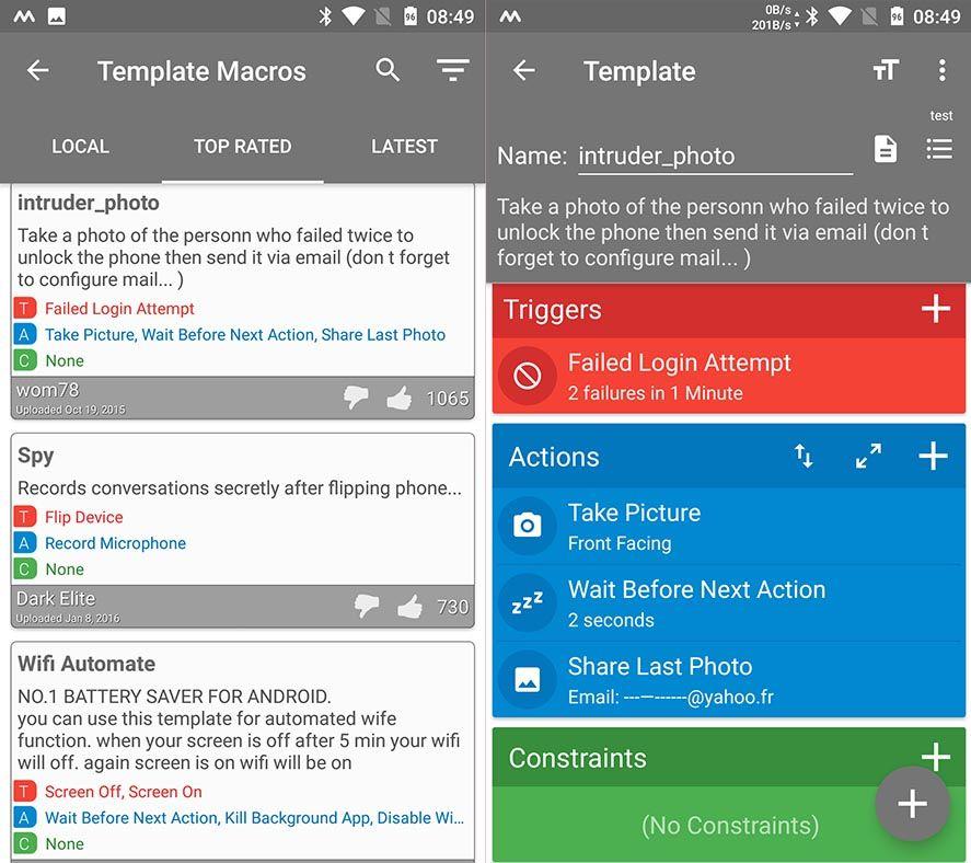 macrodroid screenshot 2 MacroDroid, una impresionante herramienta para automatizar tareas