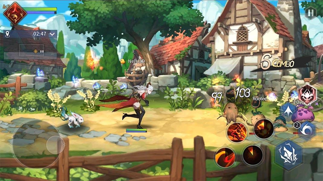 Magia Charma Saga combate contra enemigos