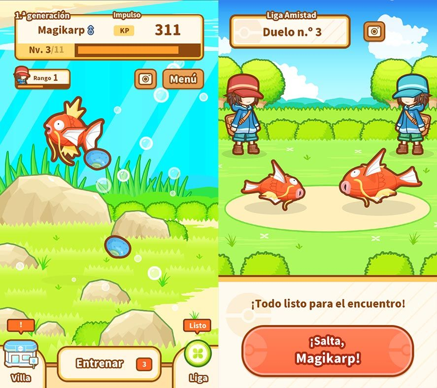 magikarp jump screenshot 1 These are all the official Pokemon games for Android