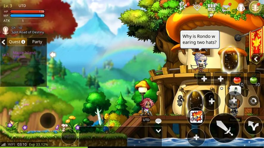 MapleStory M screenshot mejores MMORPG Android