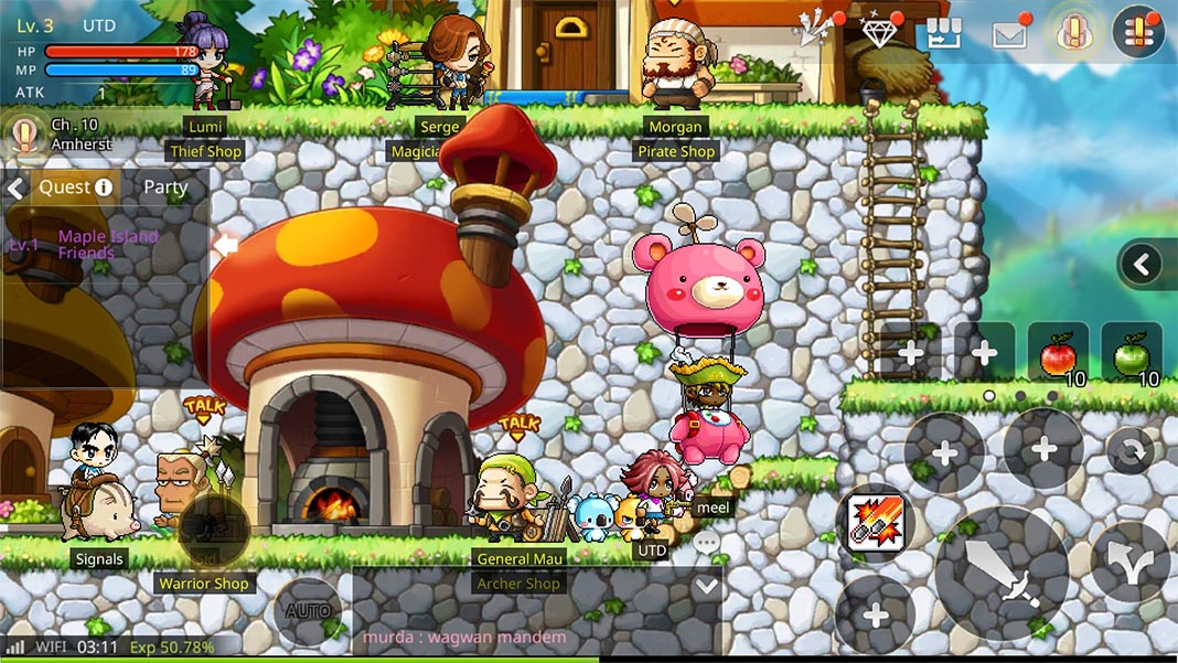 maplestory m screenshot 1 El MMORPG Maplestory llega a dispositivos Android