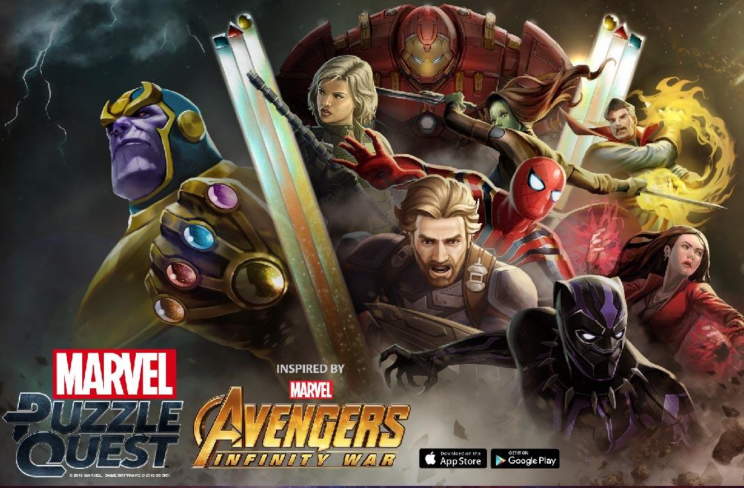 marvel puzzle quest screenshot Thanos llega a Android: Los juegos de Marvel se actualizan por Infinity War