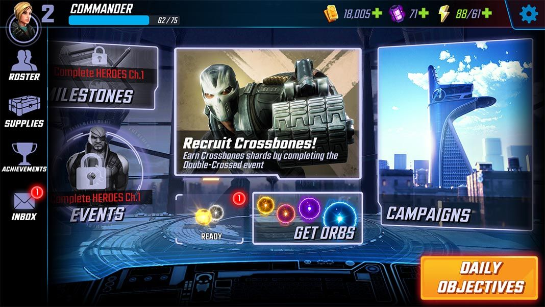marvel strike force menu Marvel Strike Force for Android is now available (updated)