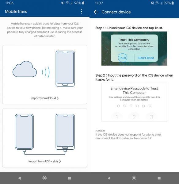mobiletrans 1 Migra fácilmente de iOS a Android con Wondershare MobileTrans