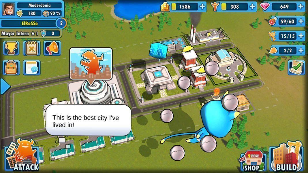 monster metropolis screenshot 2 Monster Metropolis: Construction, kaiju, and turn-based duels