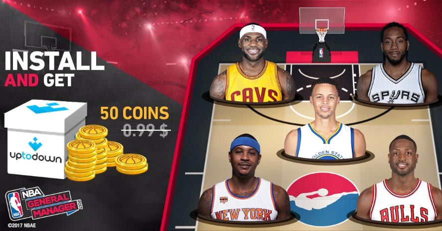 nba uptodown Earn free coins for NBA General Manager 2017 with Uptodown