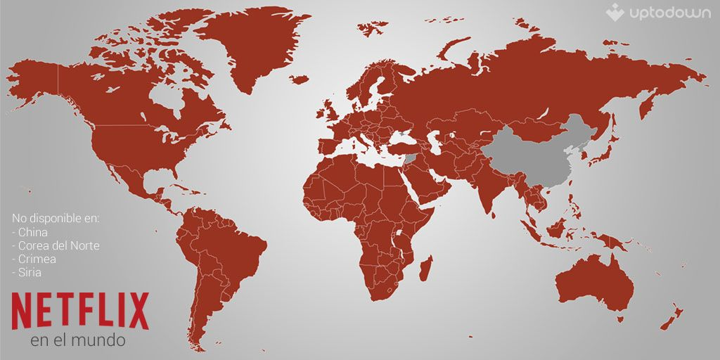 netflix world map uptodown Netflix llega a Europa y pronto a España
