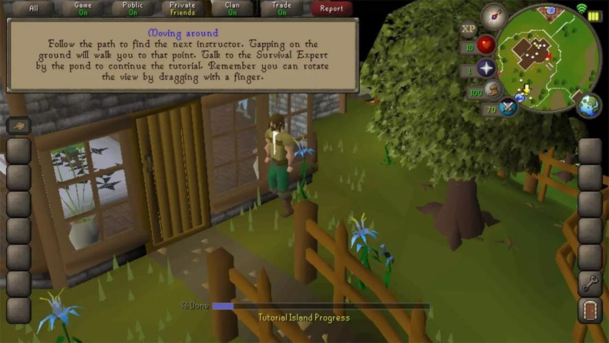 Old School Runescape screenshot mejores MMORPG Android