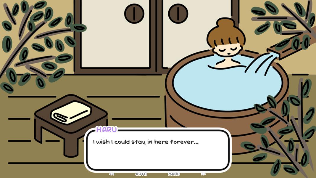 one night, hot springs