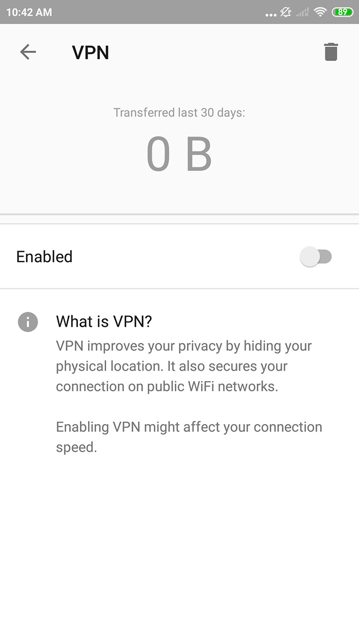 Opera Browser VPN