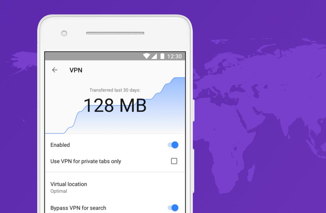 Navegador Opera VPN