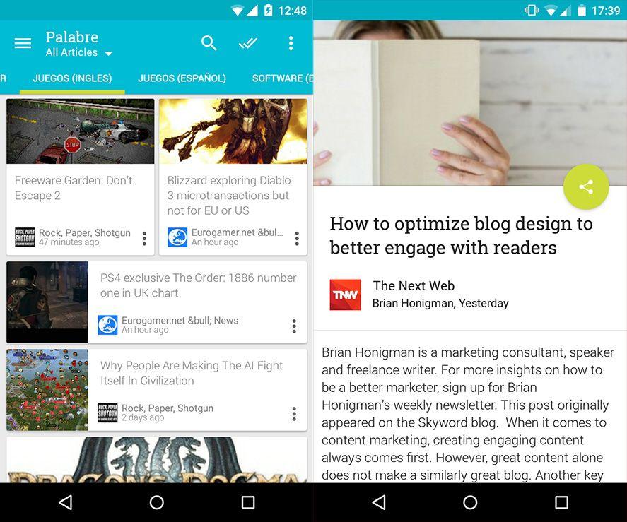 Palabre Android captura de pantalla