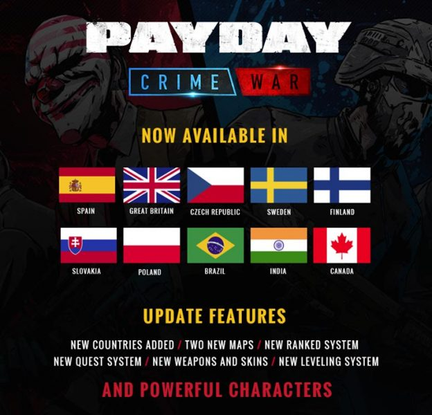 payday crime war countries PAYDAY: Crime war ya está disponible oficialmente en varios países