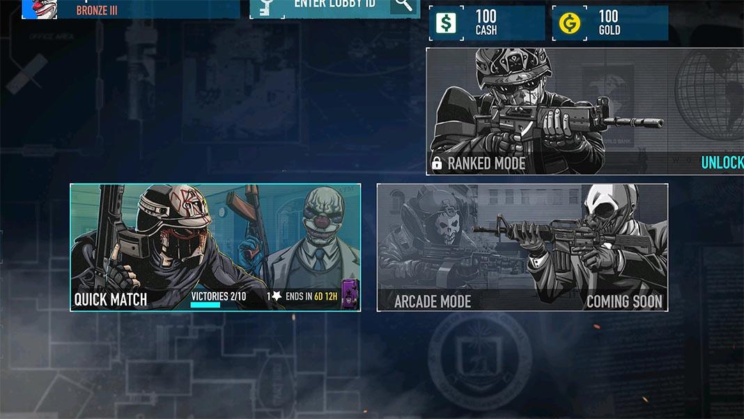 payday crime war screenshot 2 Juega a la beta cerrada de PAYDAY: Crime War para Android
