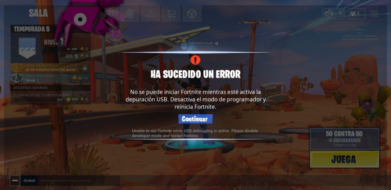 Fortnite Error USB