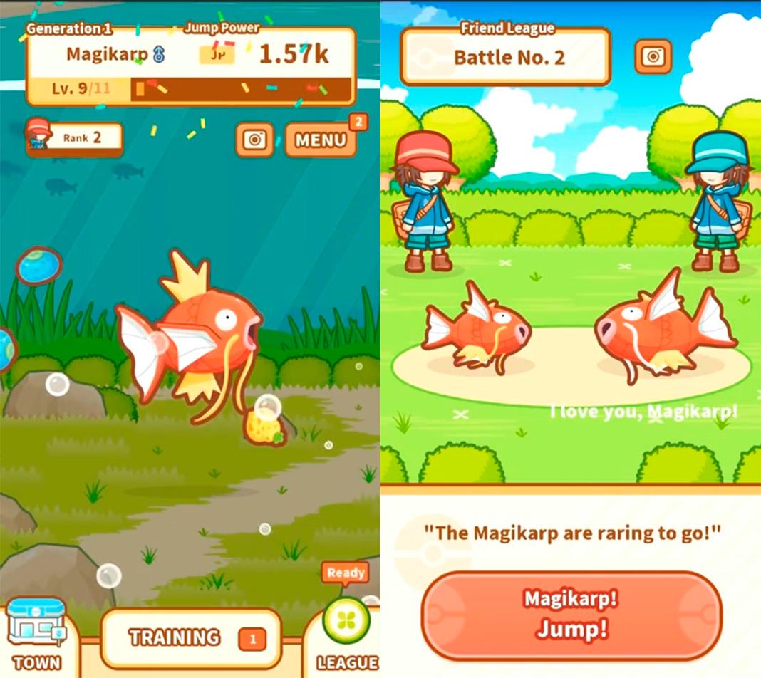 pokemon magikarp screenshot Los mejores juegos de pesca para Android