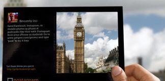 Imagen postal ejemplo Postagram