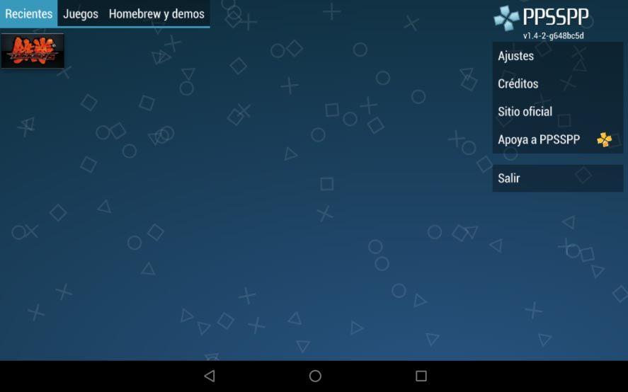 ppsspp android screenshot 1 Cómo configurar la versión para Android del emulador PPSSPP