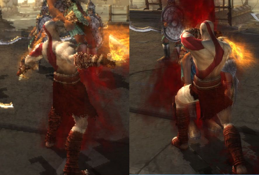 PPSSPP comparison God of War