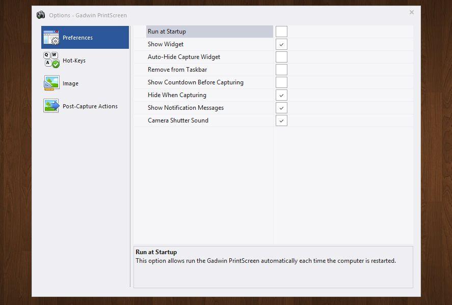 Take screenshots on Windows using Gadwin Printscreen