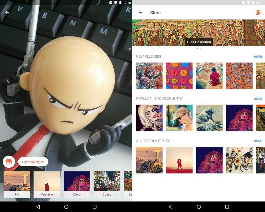prisma update screenshot 1 Prisma añade 15 filtros gratuitos y un bazar donde adquirir más