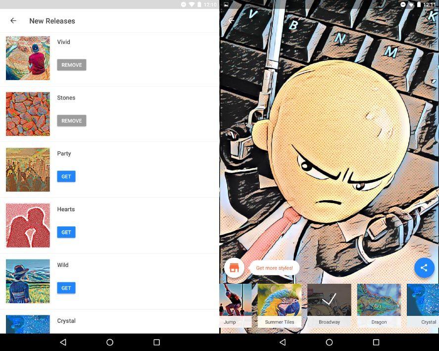 prisma update screenshot 2 Prisma añade 15 filtros gratuitos y un bazar donde adquirir más