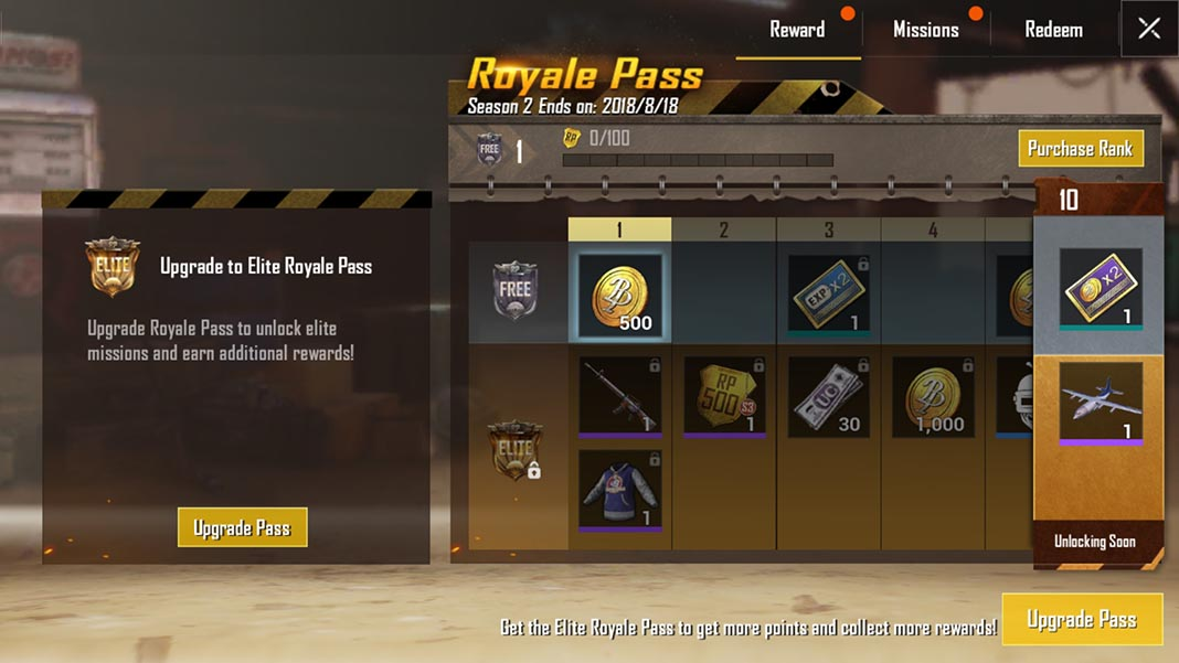 pubg mobile pass 4 PUBG Mobile 0.6.0 adds a first-person game mode and a Royale Pass