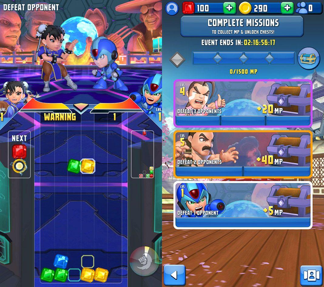puzzle fighter screenshots Puzzle Fighter regresa y ya lo puedes jugar en Android