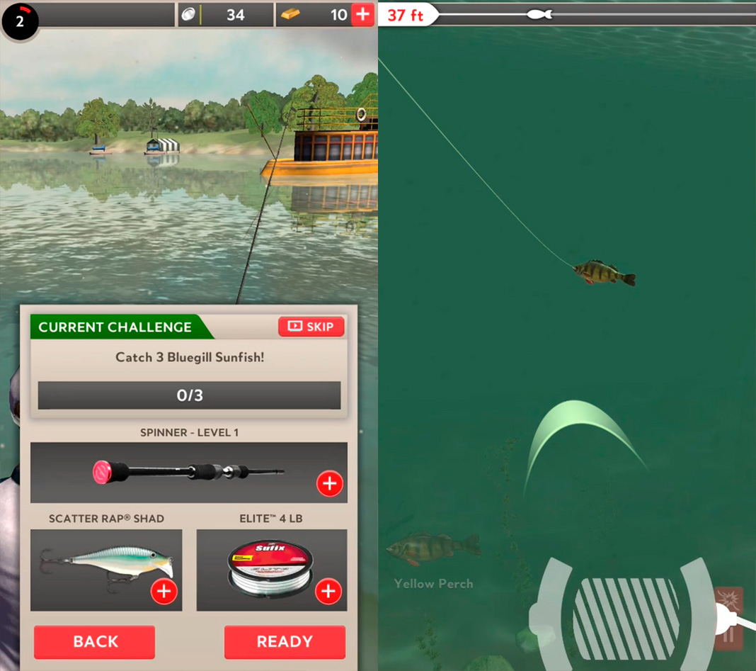 rapala fishing screenshot Los mejores juegos de pesca para Android