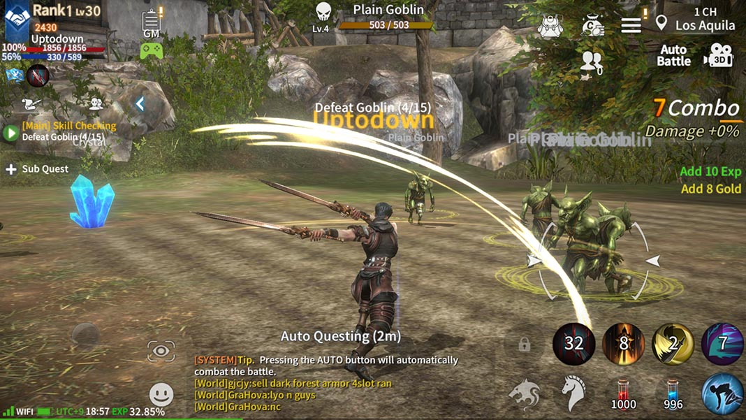 RebirthM, a great MMORPG for Android that's just as good as big PC games